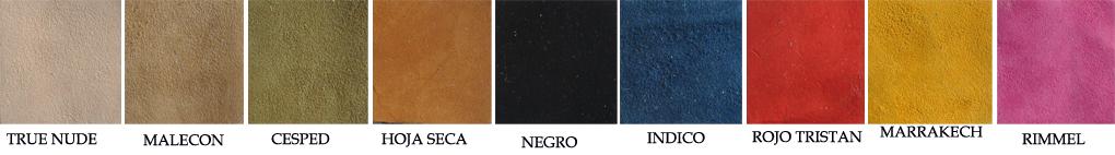 Menorquina Cordón Combinada Piel color